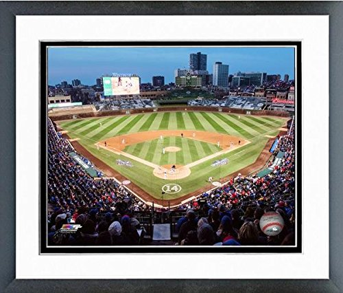 Wrigley Field Framed Pictures - Wrigley Field Chicago Cubs MLB Stadium Photo (Size: 12.5