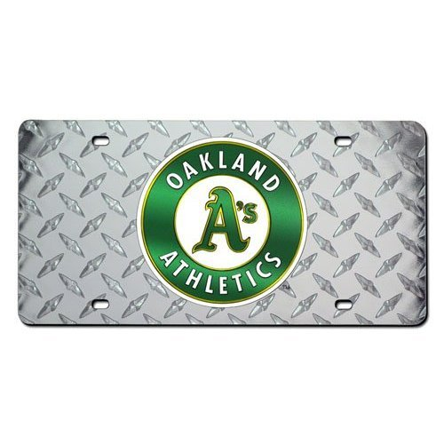Oakland Athletics Deluxe Diamond Plate Laser Cut License ()