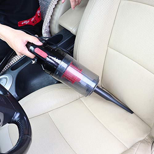 KKmoon DC 12V Car Vacuum Cleaner, High Power 150W 6000PA Wet/Dry Handheld Portable Auto Vacuum Cleaner,Corded Car Vacuum Cleaner for Quick Car Cleaning