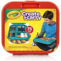 Crayola Create 'n Carry 75 Piece Art Kit Art Gift for...