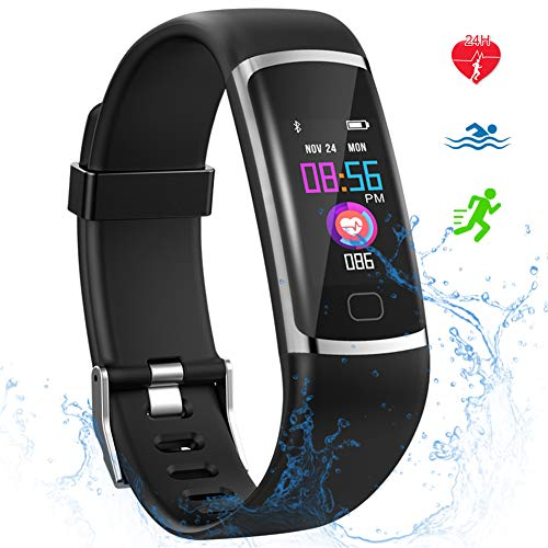 Fitness Tracker HR Activity Tracker with Heart Rate Monitor Waterproof SmartWatch with Step Counter Fit Watch Sleep Monitor Step Counter for Men and Women