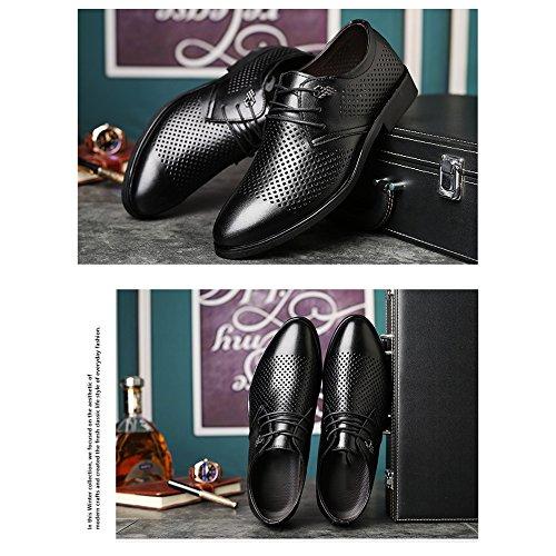 Con Verano Casuales Zapatos YXLONG De Ocio YellowBrown Negocios Nuevo Cordones Zapatos Transpirable SCIwqd8