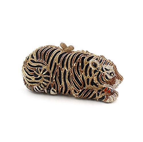 Luxury Diamond Tiger Cena Bag Bolso Bolsa de noche Wallet B