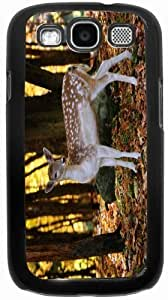 Rikki KnightTM Fallow Deer in Autumn Forest - Black Hard Rubber TPU Case Cover for Samsung? Galaxy i9300 Galaxy S3 by runtopwell