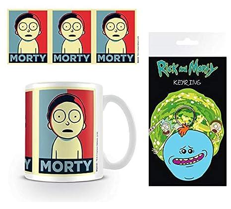 Set: Rick Y Morty, Orty Campaign Taza Foto (9x8 cm) Y 1 Rick ...