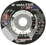 Walter ZIP+ Superior Performance Cutoff Wheel, Type 27, Round Hole, Aluminum Oxide, 4-1/2'' Diameter, 1/16'' Thick, 7/8'' Arbor, Grit A-46-ZIP (Pack of 25)