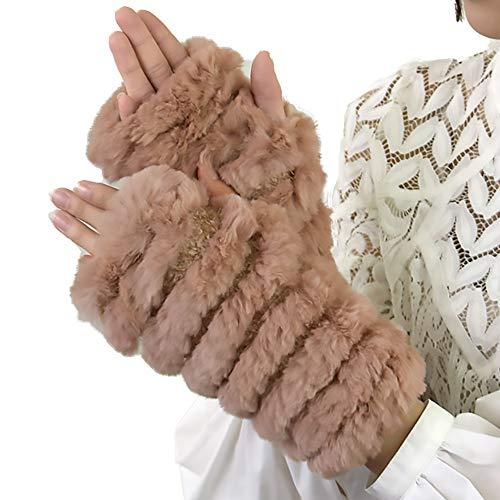 ミシンそれからアニメーションラビットファーニット手袋(b-1102)