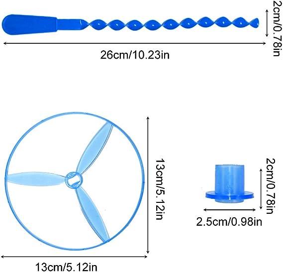 10 St/ück Farbe zuf/ällig Twisty Zugschnur FliegenSaucers Spinning Flying Disc Hubschrauber Spielzeug Lernspielzeug f/ür Kinder-Stil zuf/ällig