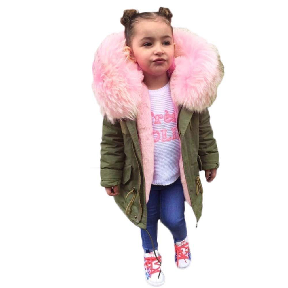 399f409df471 Amazon.com  Toddler Kids Girls Cotton Fleece Lined Thicken Fur ...