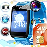 Kids Phone Smart Watch[FREE SIM CARD],Kids Smartwatch with SOS for 3-14 Year Boys Girls, Anti-Lost...