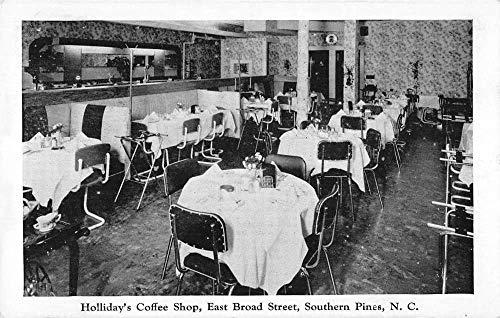 Southern Pines North Carolina interior Holliday's Coffee Shop antique pc Z50253
