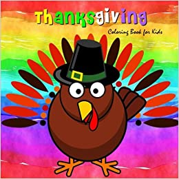 Thanksgiving Coloring Book For Kids Large Print Coloring Activity