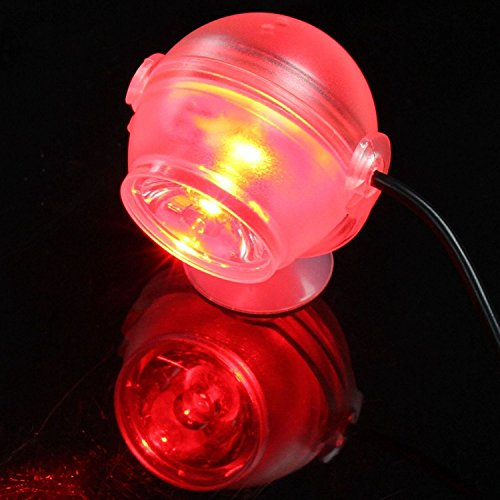 Aquarium Lights, Kitty&Puppy Aquarium Fish Tank Submersible Diving Decorative Fish Tank Lights Led Lights Spotlights Bulbs Lamps for 5 20 30 Gallon Red Colo