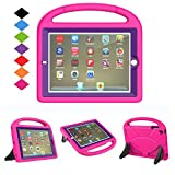 BFTOP Compatible Kids Case for iPad 2 3 4 with Built-in Screen Protector, Lightweight Shockproof Cover Case with Handle & Stand for iPad 2, iPad 3rd Generation, iPad 4th Generation Tablet -Rose+Purple