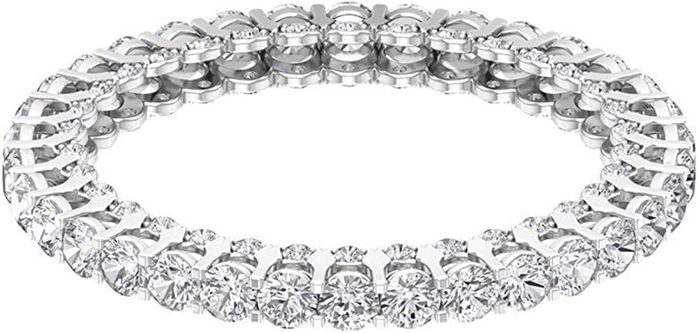 Anillo de eternidad de diamantes antiguos de 1,25 ct, clásico, para mujer, con certificado SGL, anillo de promesa de novia, 10K Oro