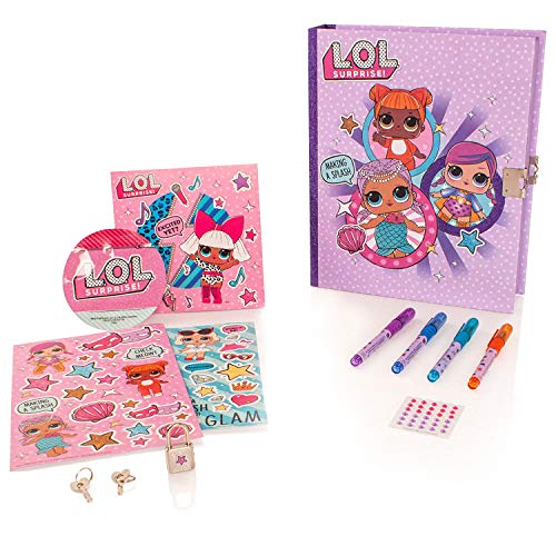 - L.O.L. Surprise! Girls Collectible Treasure Keepsake Box Stickers (One Size, Pink)