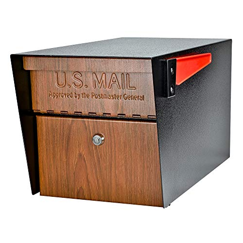 Mail Boss Curbside 7510 Mail Manager Locking Security Mailbox, Wood Grain, Black Powder Coat by Mail Boss (Image #4)