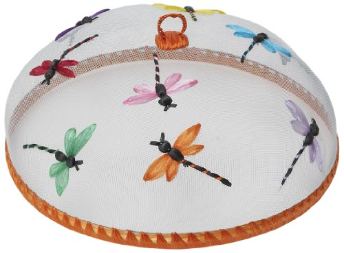 (Woodard & Charles Round Dragonflies Food Domes, 14-Inch)