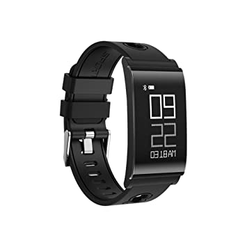 OOLIFENG Bluetooth Pulsera Inteligente, Material médico TPU Impermeable Reloj Fitness con Fitness Tracker para Android y iOS, Black: Amazon.es: Hogar