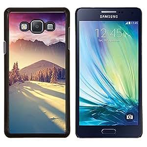 LECELL--Funda protectora / Cubierta / Piel For Samsung Galaxy A7 A7000 -- Montañas de la nieve de invierno la luz del sol --