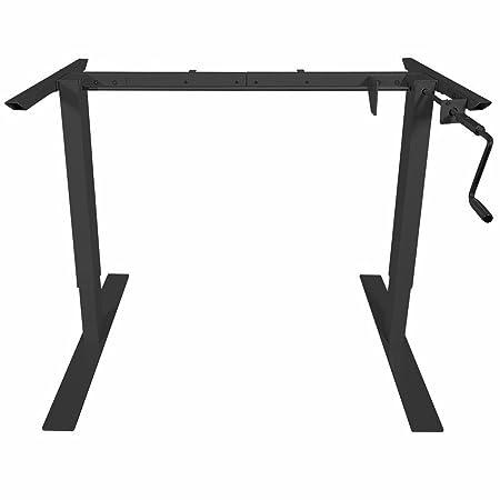 Titan Manual Hand Crank Adjustable Sit-Stand Standing Desk Frame 50 H 63 W