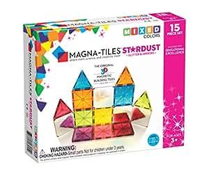 Amazon Com Magna Tiles 15piece Stardust Set The Original