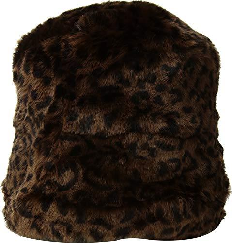 Faux Fur Cloche - SCALA Women's Faux Fur Cloche Dark Leopard One Size