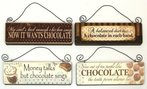 (Chocolate Wall Signs Set of 4)