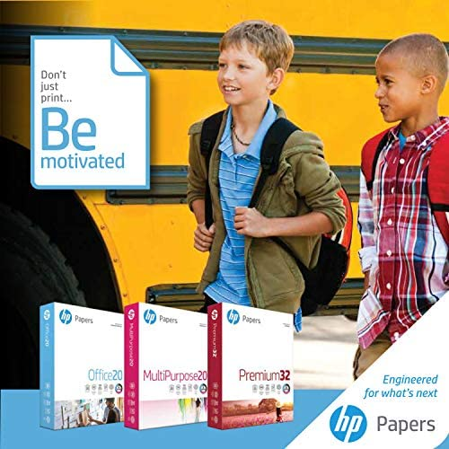 HP Paper Printer Paper 8.5x11 Premium 24 lb 1 Ream 500 Sheets 100 Bright Made in USA FSC Certified Copy Paper Compatible 115300R, White, 112400R