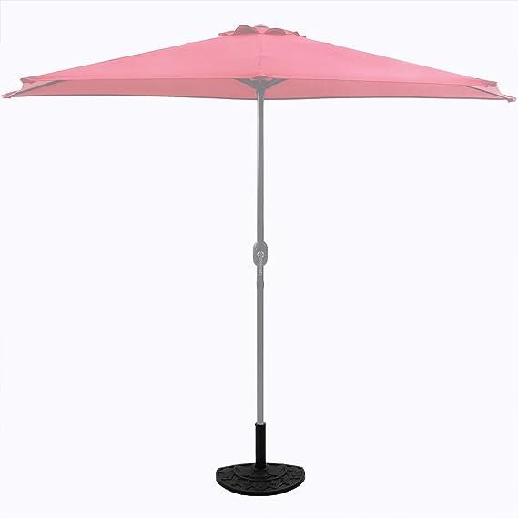 DEUBA Sonnenschirmständer Schirmständer Sonnenschirmfuß halbrund in Gussoptik
