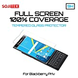 SOJITEK BlackBerry Android PRIV 100% 3D Full Screen Coverage Including Curved Edge Clear Color Premium Ballistic Tempered Glass Screen Protector - High Clarity&Touchscreen Accuracy Smart Film (1 Pack)