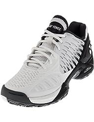 Yonex Men`s Power Cushion Eclipsion Tennis Shoe, White/Black