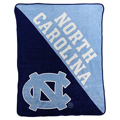 The Northwest Company Officially Licensed NCAA North Carolina Tar Heels Halftone Micro Raschel Throw Blanket, 46