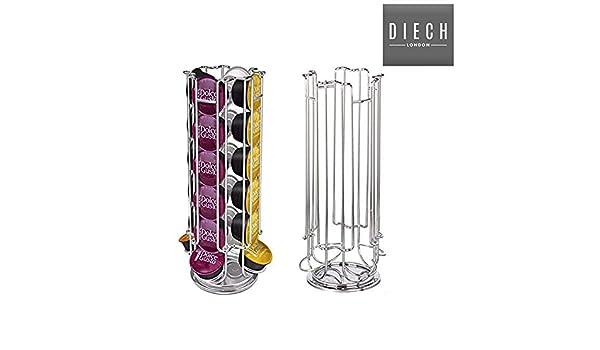 soporte para c/ápsulas almacenamiento de c/ápsulas Soporte giratorio para c/ápsulas de caf/é Dolce Gusto de Diech para 24 c/ápsulas de caf/é