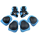 Panegy Children Kids Cycling Riding Bicycle Roller Skating Protective Gear Knee Elbow Wrist Support Protective Pads Guards 6pcs Blue