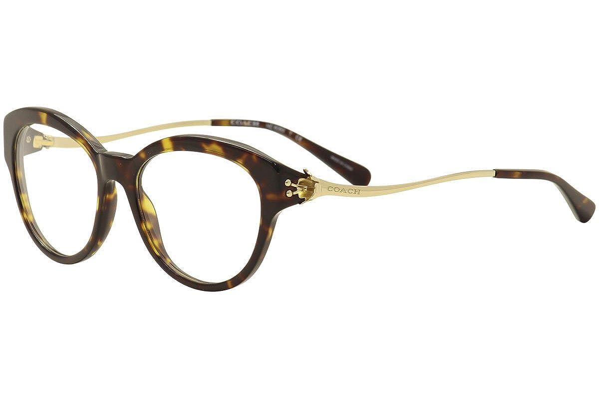 08d7a70696da0 Coach Women s HC6093 Eyeglasses Dark Tortoise Light Gold 52mm at Amazon  Men s Clothing store