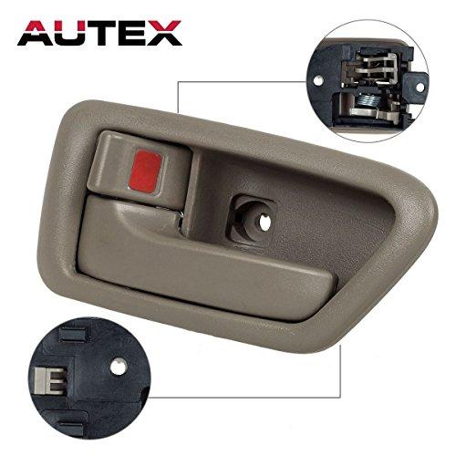 AUTEX 91004/91008 Beige Interior Door Handle Inner Front Left Driver Side Replacement Handle for 1997 1998 1999 2000 2001 Toyota Camry,1pc (Front Handle Camry Toyota Door)