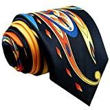 Shlax & Wing Mens Neckties Ties Printed Geometric Multicolor Silk New