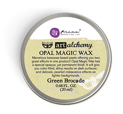Prima Marketing Art Alchemy-Opal Magic Wax-Green Brocade
