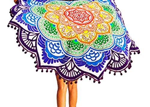 tomyork-magic-mandala-lotus-colorful-beach-towel