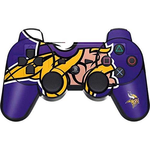 Skinit Minnesota Vikings Retro Logo PS3 Dual Shock Wireless Controller Skin - Officially Licensed NFL Gaming Decal - Ultra Thin, Lightweight Vinyl Decal Protection (Minnesota Controller Wireless Vikings)