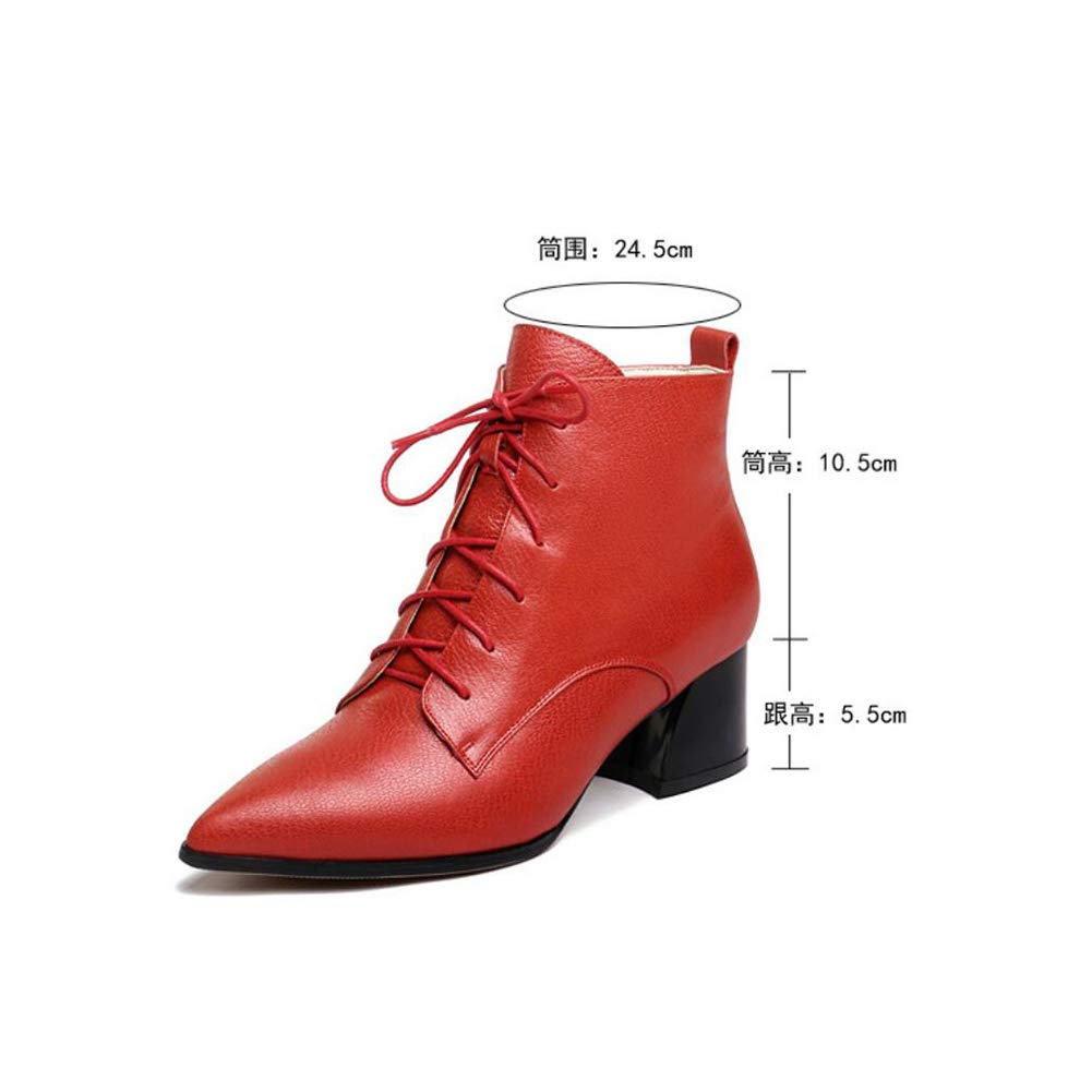 60a3d2bd72b Amazon.com: Women's Ankle Boots, Lace-up Leather Shoes, New Leather ...
