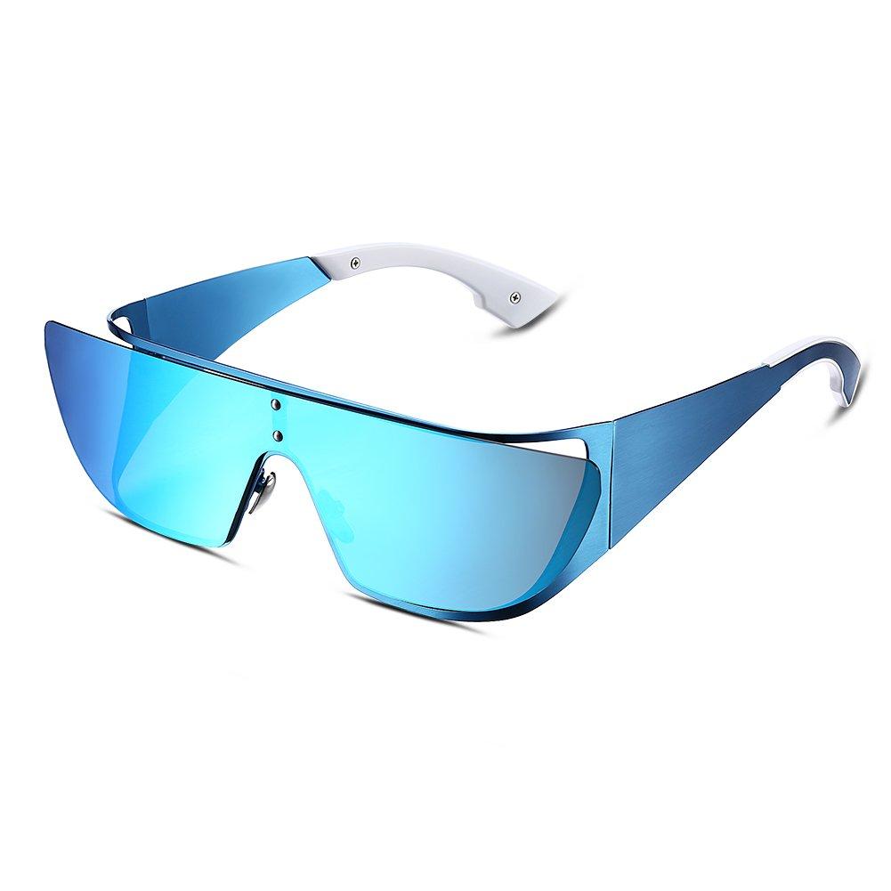 Gafas de sol de aviador futuristas Espejo Gafas de sol de ...