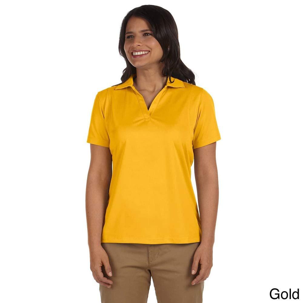 Harriton Ladies Micro-Piquu Polo Gold M