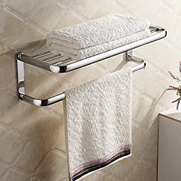 Towel Holder For Bathroom. Hiendure Brass Wall Mounted Towel Rack Hanger Holder Organizer Bar Bathroom Towel Shelf 23 Towel Shelfchrome Amazon Co Uk Diy Tools
