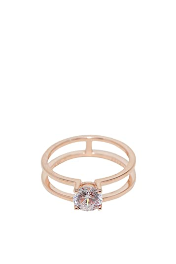 Esprit Damen-Ring Lillian 925er Silber Zirkon (rosé)  Amazon.de  Schmuck 945049035f