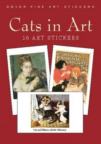 Cats Art 16 Stickers Dover product image