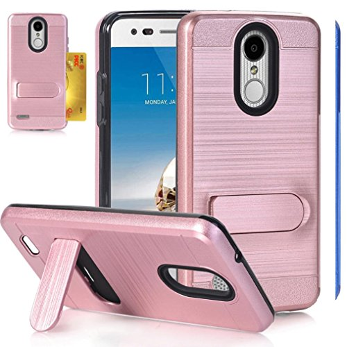 LG LV3 2018 Case, LG Aristo 2 Case, LG Tribute Dynasty Case,AutumnFall 1PC Shockproof Full-body Protective Case Cover Skins Card Holder For Tribute Dynasty LV3 (Rose Gold)