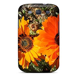 Galaxy S3 Hard Back With Bumper Silicone Gel Tpu Case Cover Namaqual In Orange