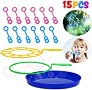 B bangcool Big Bubble Wands Set - Bubbles Wand Funny Bubbles Makers for Outdoor Playtime & Party & Bac
